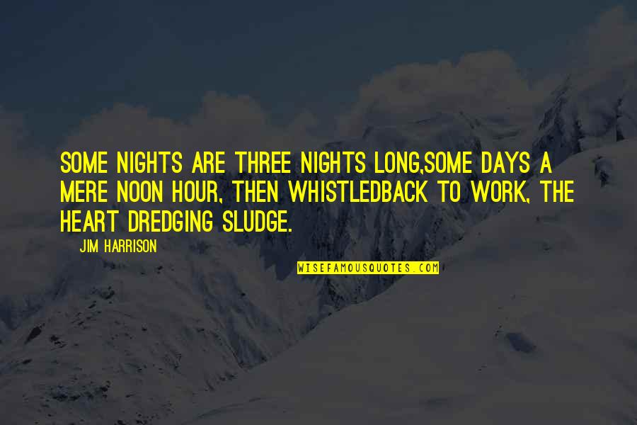Best Nipsey Hussle Quotes By Jim Harrison: Some nights are three nights long,some days a