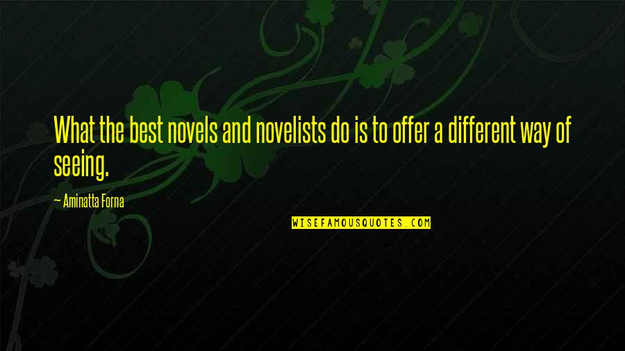 Best Offer Quotes By Aminatta Forna: What the best novels and novelists do is