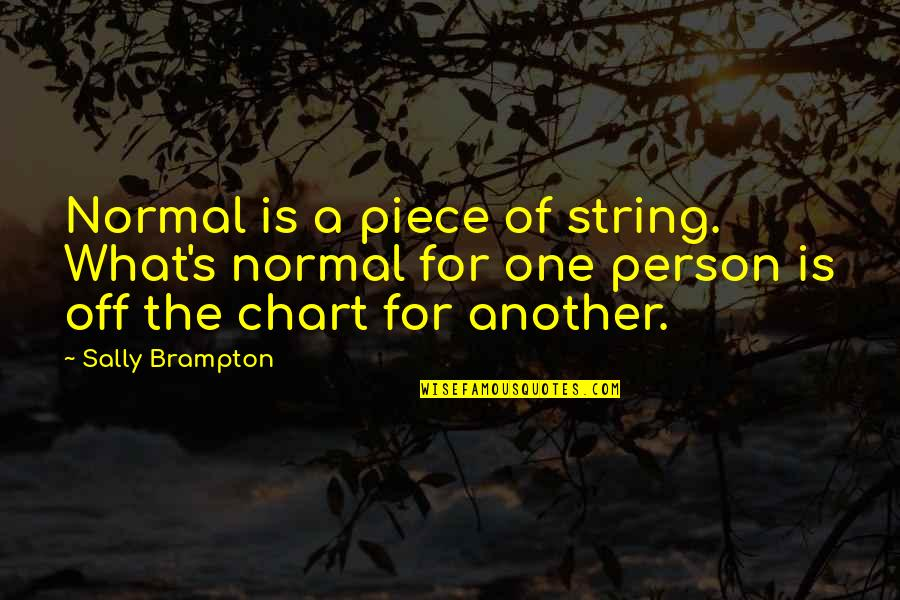 Best One Piece Quotes By Sally Brampton: Normal is a piece of string. What's normal