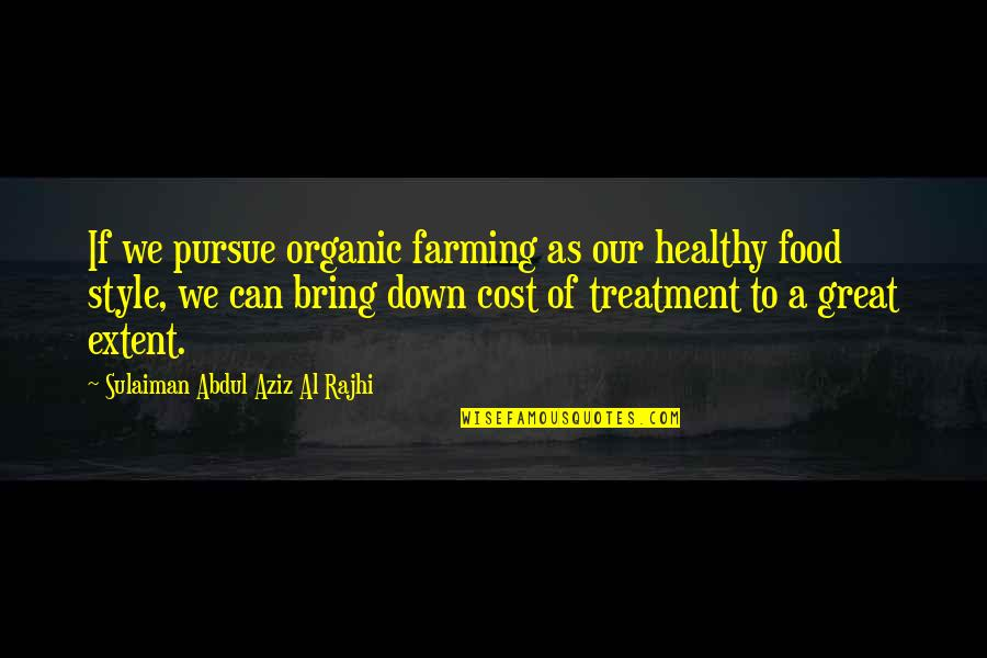 Best Organic Food Quotes By Sulaiman Abdul Aziz Al Rajhi: If we pursue organic farming as our healthy