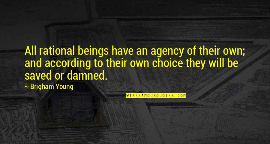 Best Phil The Greek Quotes By Brigham Young: All rational beings have an agency of their