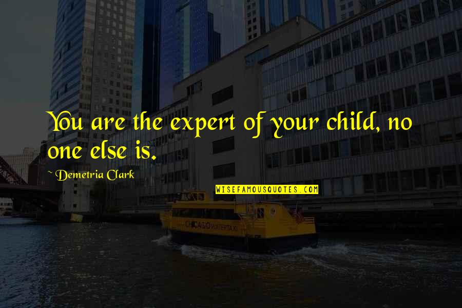 Best Practices In Education Quotes By Demetria Clark: You are the expert of your child, no
