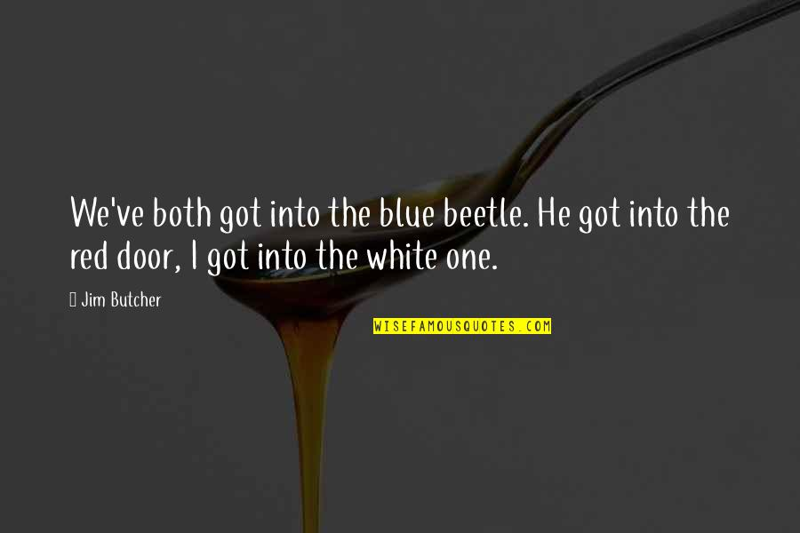 Best Red Vs Blue Quotes By Jim Butcher: We've both got into the blue beetle. He