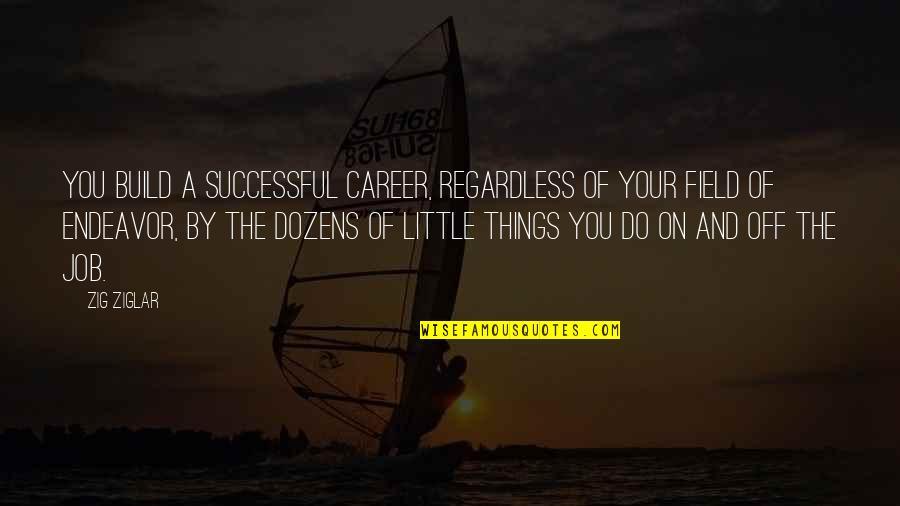 Best Regardless Quotes By Zig Ziglar: You build a successful career, regardless of your