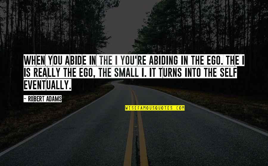 Best Robert Adams Quotes By Robert Adams: When you abide in the I you're abiding