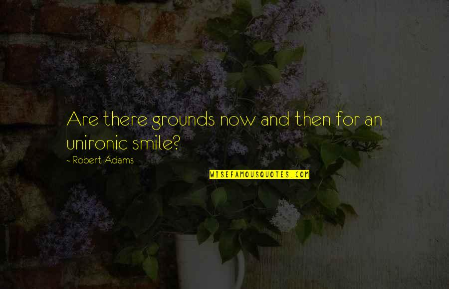 Best Robert Adams Quotes By Robert Adams: Are there grounds now and then for an