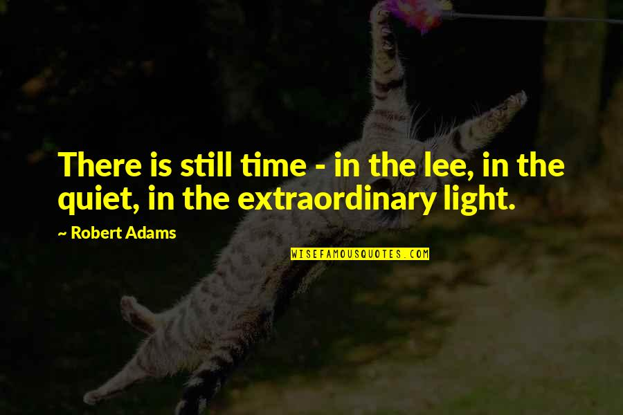 Best Robert Adams Quotes By Robert Adams: There is still time - in the lee,