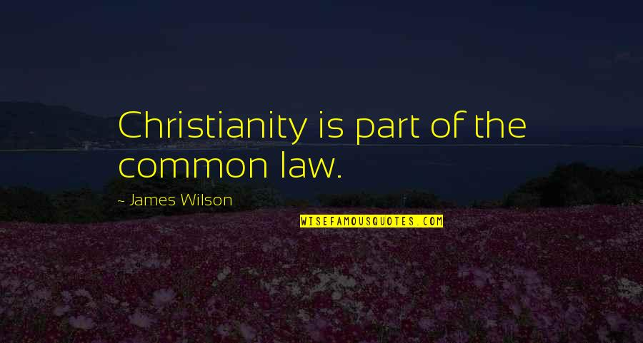 Best Sales Pitch Quotes By James Wilson: Christianity is part of the common law.