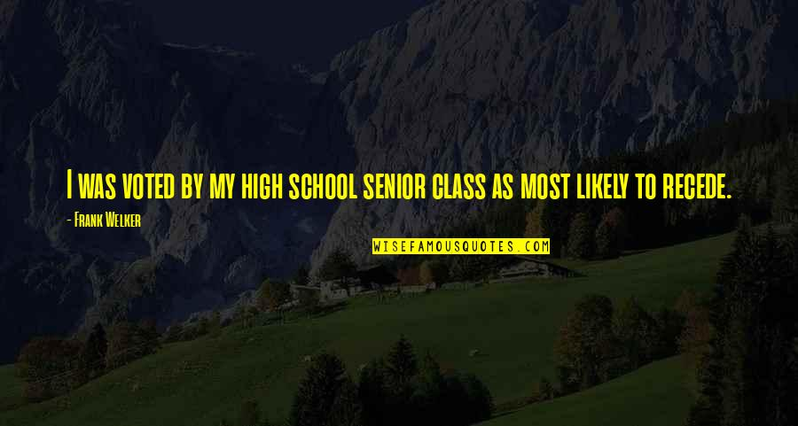 Best Senior Quotes By Frank Welker: I was voted by my high school senior