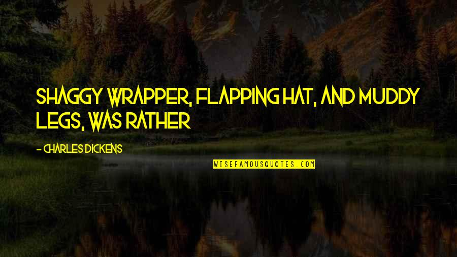 Best Shaggy Quotes By Charles Dickens: Shaggy wrapper, flapping hat, and muddy legs, was