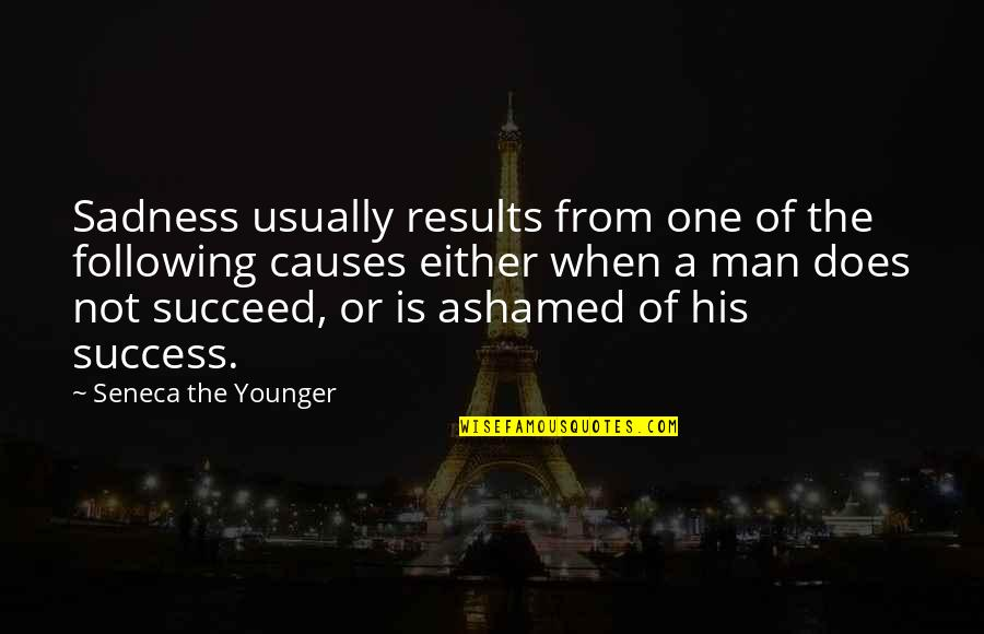 Best Sicilian Quotes By Seneca The Younger: Sadness usually results from one of the following