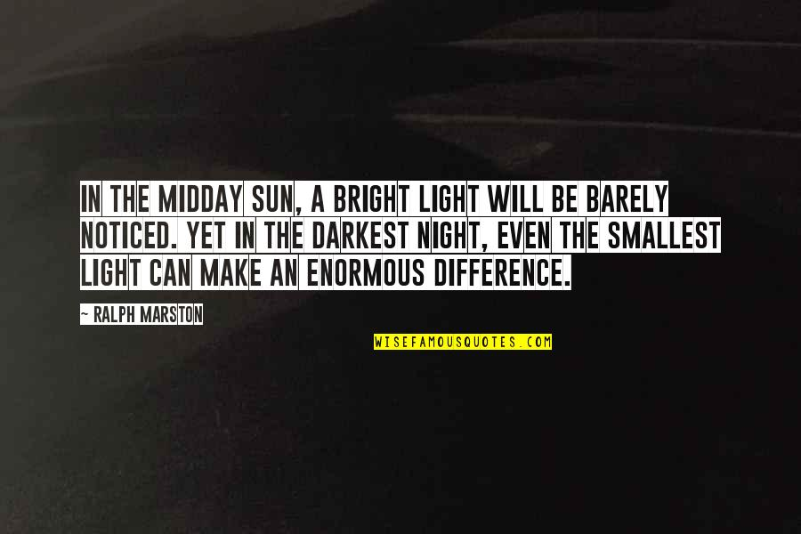 Best Smallest Quotes By Ralph Marston: In the midday sun, a bright light will