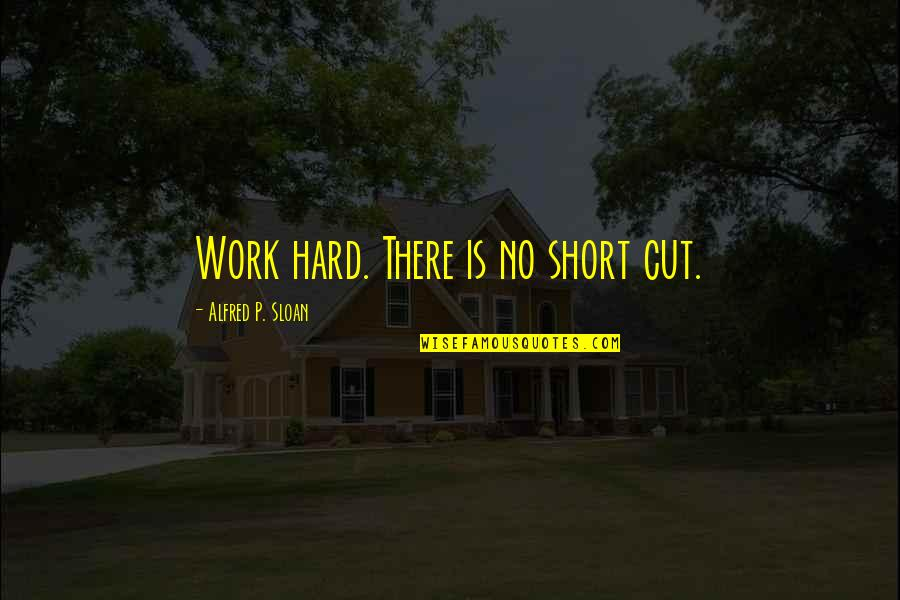 Best Star Wars Droid Quotes By Alfred P. Sloan: Work hard. There is no short cut.