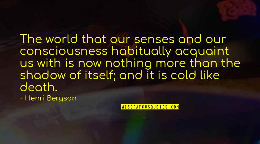 Best Thank You Notes Quotes By Henri Bergson: The world that our senses and our consciousness