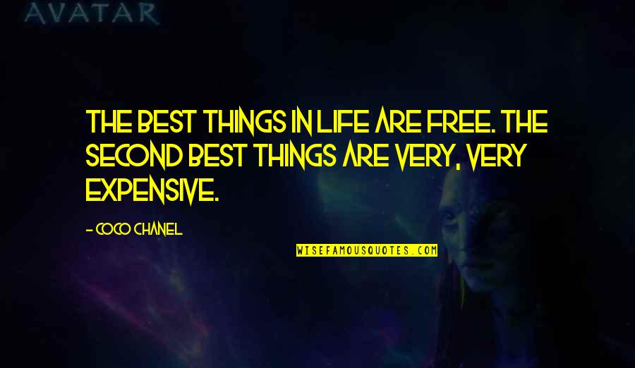 Best Things In Life Are Free Quotes By Coco Chanel: The best things in life are free. The