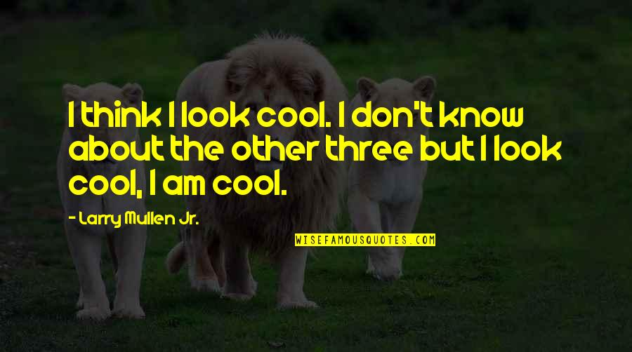 Best Thinking About You Quotes By Larry Mullen Jr.: I think I look cool. I don't know