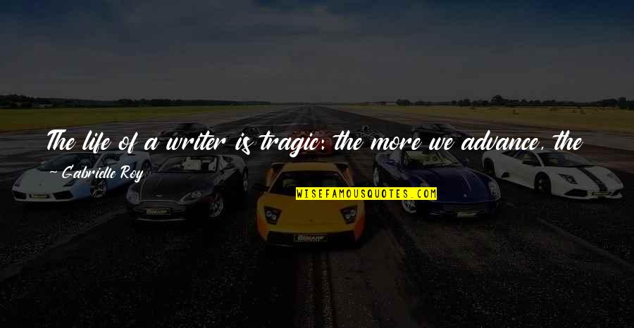 Best Time Of My Life Quotes By Gabrielle Roy: The life of a writer is tragic: the