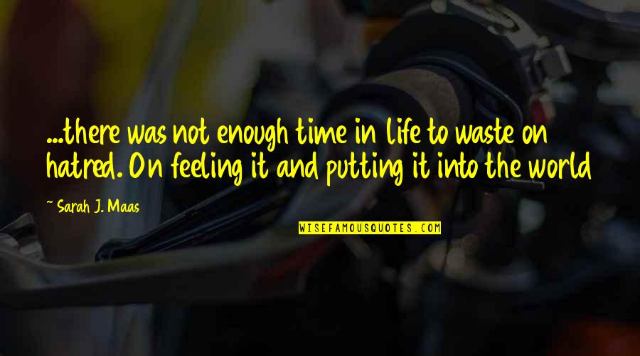 Best Time Of My Life Quotes By Sarah J. Maas: ...there was not enough time in life to