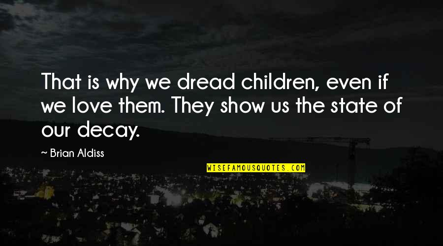 Best Unhappy Love Quotes By Brian Aldiss: That is why we dread children, even if