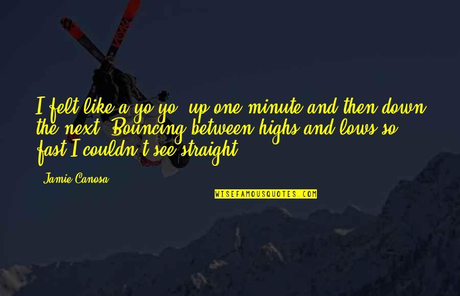 Best West Coast Rap Quotes By Jamie Canosa: I felt like a yo-yo, up one minute