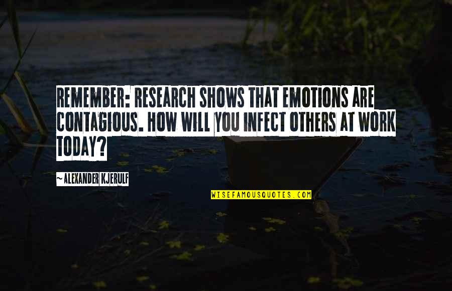 Best Work Motivational Quotes By Alexander Kjerulf: Remember: Research shows that emotions are contagious. How