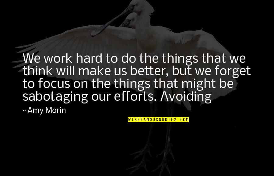 Better Things To Do Quotes By Amy Morin: We work hard to do the things that