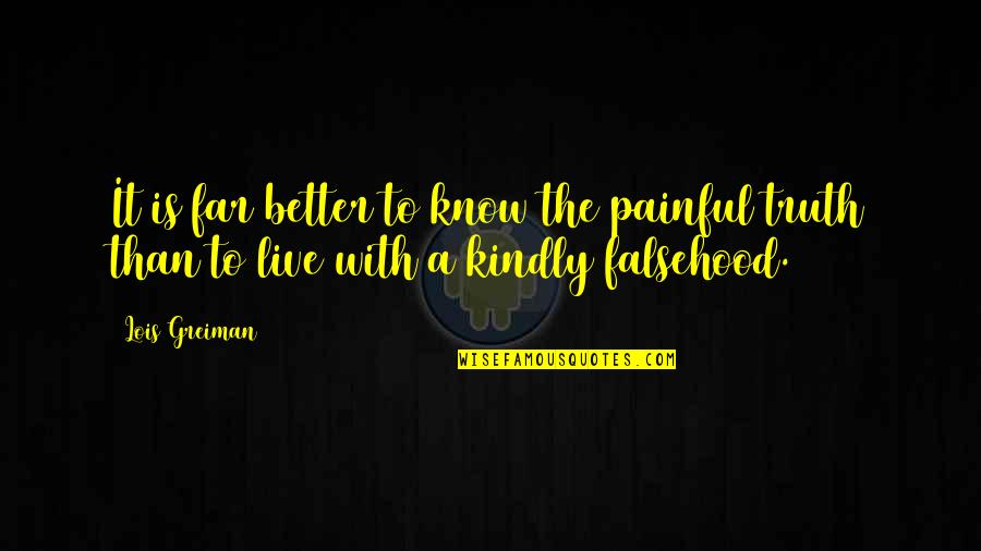 Better To Know The Truth Quotes By Lois Greiman: It is far better to know the painful