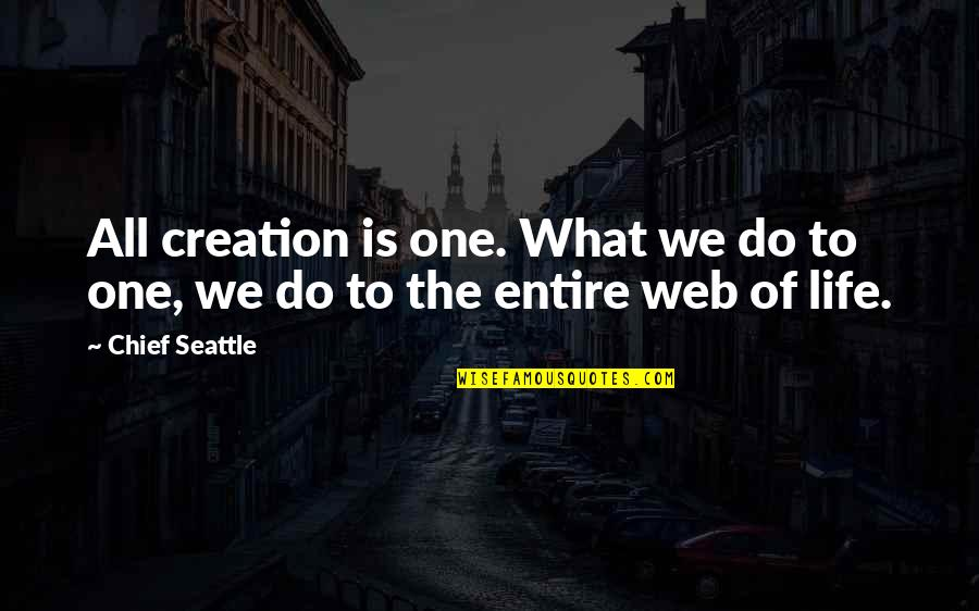 Betty Macdonald Quotes By Chief Seattle: All creation is one. What we do to