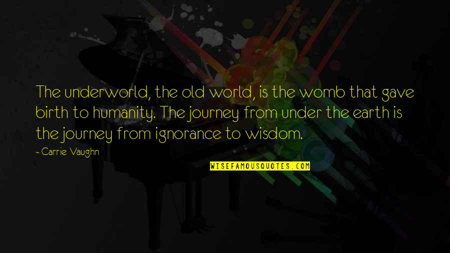 Bharat Scouts And Guides Quotes By Carrie Vaughn: The underworld, the old world, is the womb