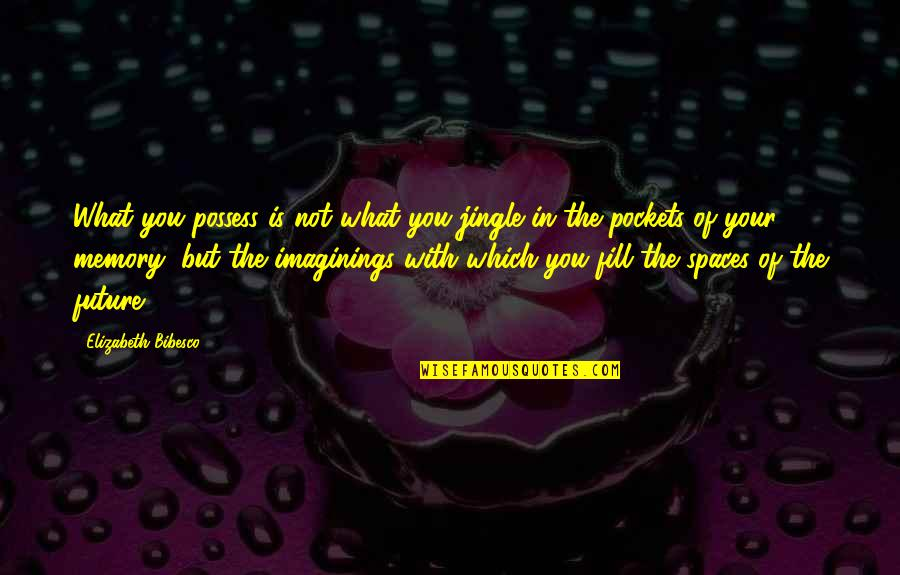 Bibesco Quotes By Elizabeth Bibesco: What you possess is not what you jingle
