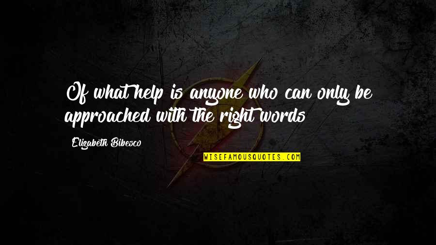 Bibesco Quotes By Elizabeth Bibesco: Of what help is anyone who can only