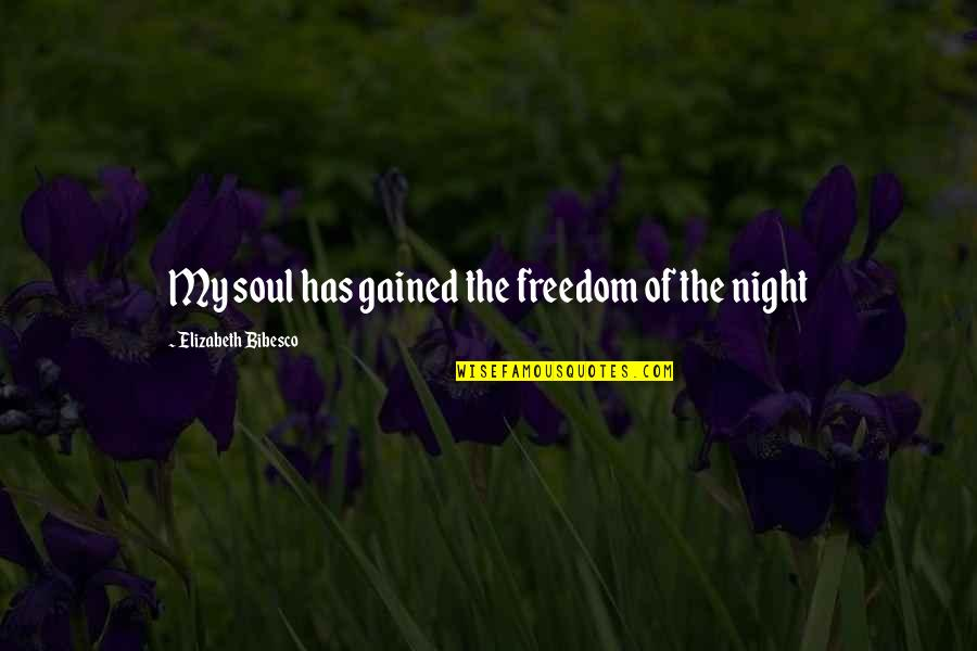 Bibesco Quotes By Elizabeth Bibesco: My soul has gained the freedom of the