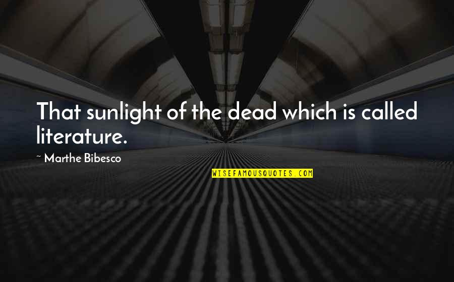 Bibesco Quotes By Marthe Bibesco: That sunlight of the dead which is called