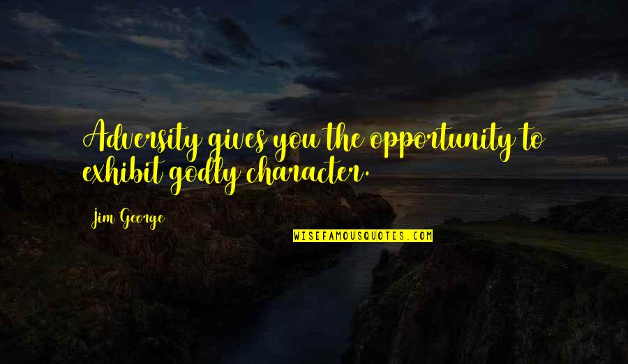 Bible God Love Quotes By Jim George: Adversity gives you the opportunity to exhibit godly