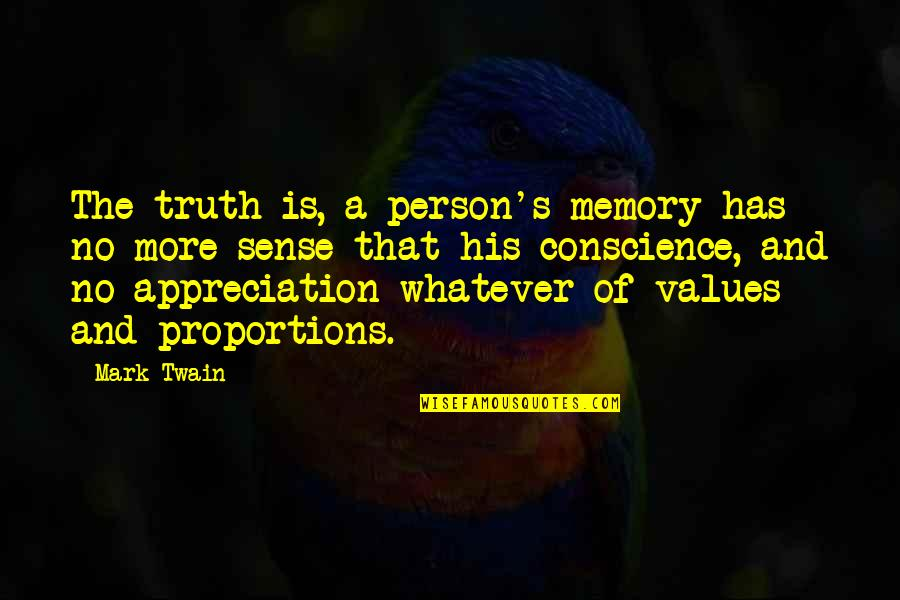 Bible Revival Quotes By Mark Twain: The truth is, a person's memory has no