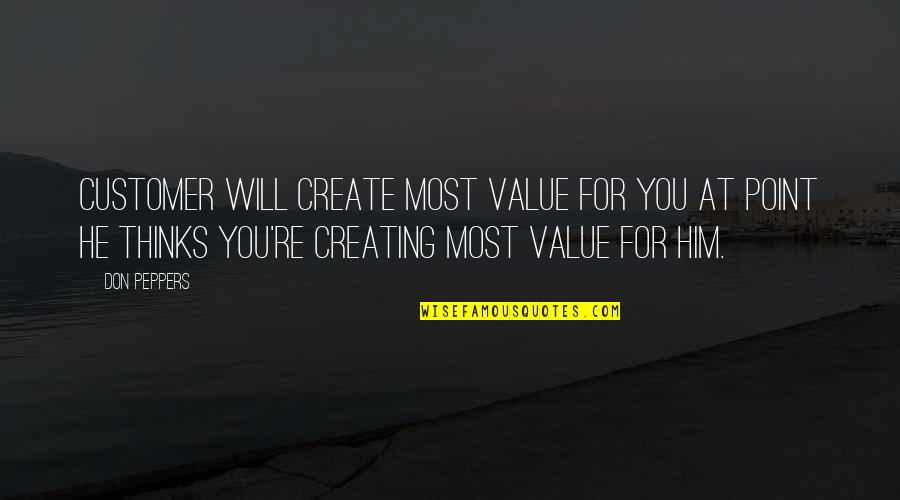 Biblical Fortitude Quotes By Don Peppers: Customer will create most value for you at
