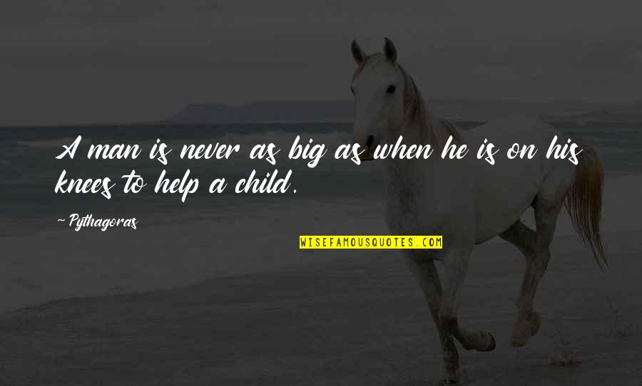 Big 4-0 Quotes By Pythagoras: A man is never as big as when