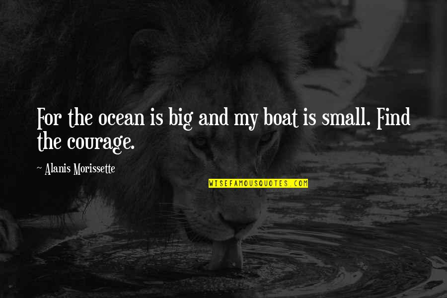 Big And Small Quotes By Alanis Morissette: For the ocean is big and my boat