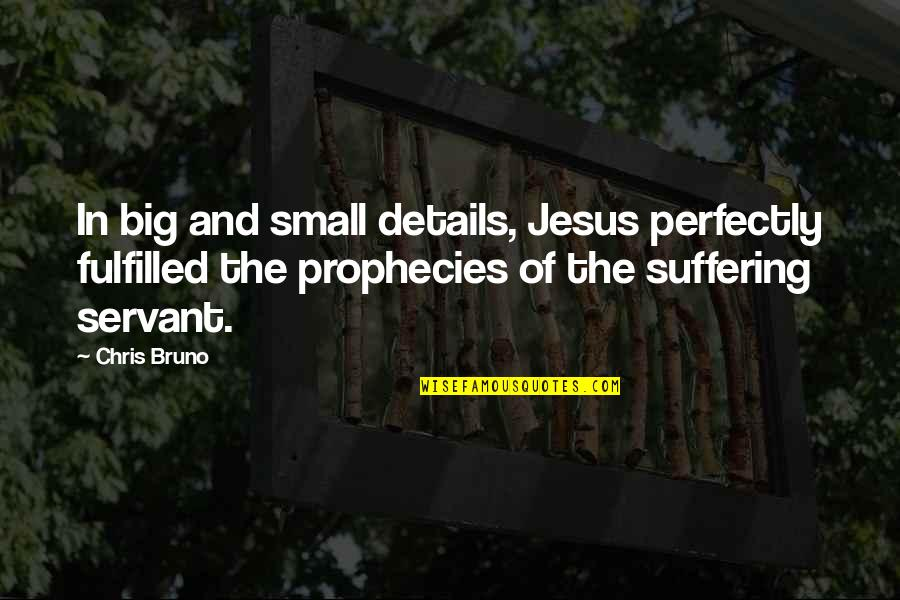 Big And Small Quotes By Chris Bruno: In big and small details, Jesus perfectly fulfilled