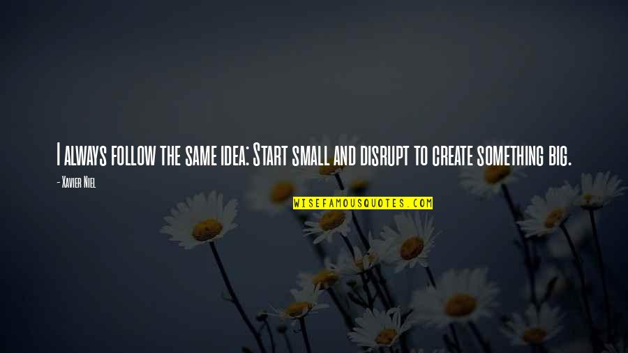 Big And Small Quotes By Xavier Niel: I always follow the same idea: Start small