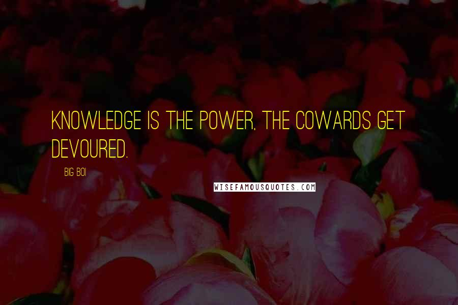 Big Boi quotes: Knowledge is the power, the cowards get devoured.