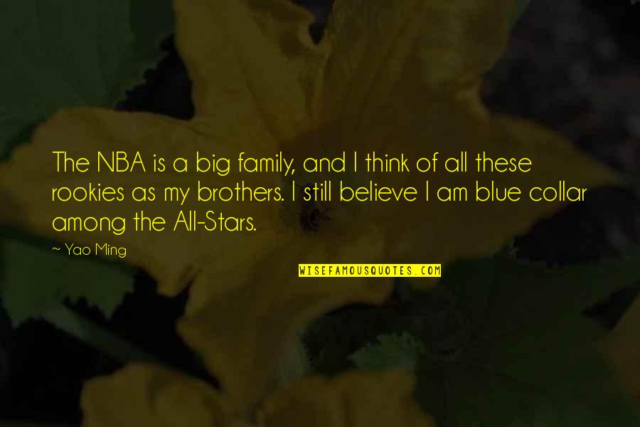 Big Brother Quotes By Yao Ming: The NBA is a big family, and I