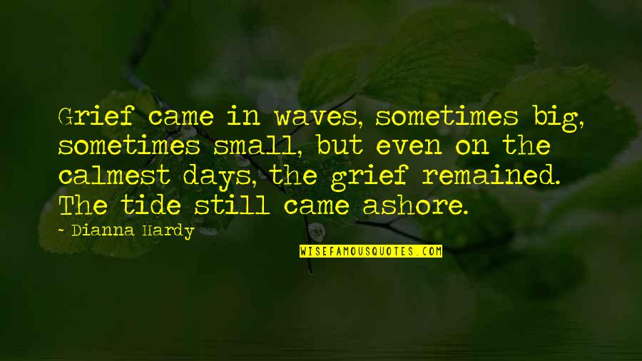 Big But Quotes By Dianna Hardy: Grief came in waves, sometimes big, sometimes small,