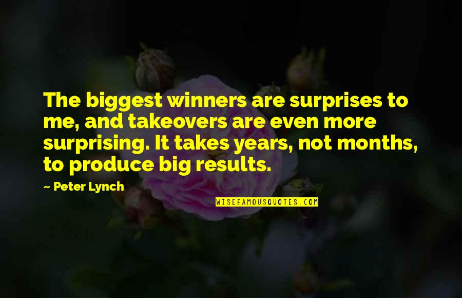 Big Surprises Quotes By Peter Lynch: The biggest winners are surprises to me, and
