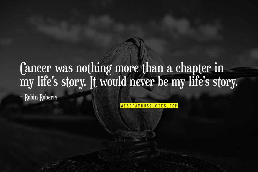 Bigcharts Stock Quotes By Robin Roberts: Cancer was nothing more than a chapter in