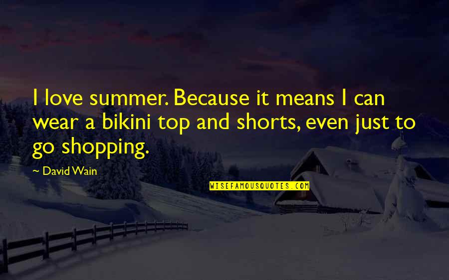 Bikini'd Quotes By David Wain: I love summer. Because it means I can