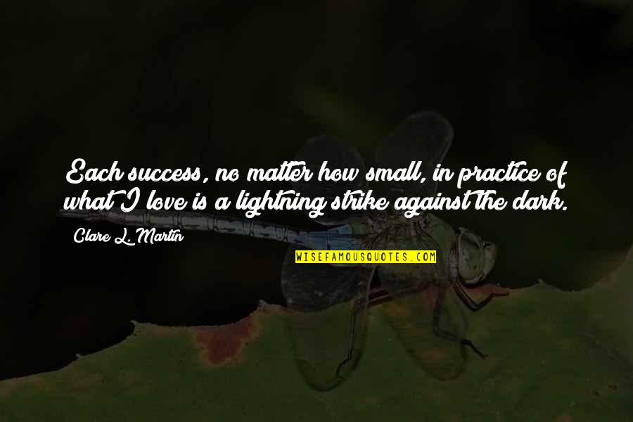 Bill Collectors Quotes By Clare L. Martin: Each success, no matter how small, in practice