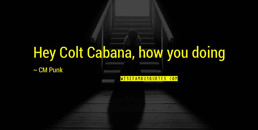 Bill Collectors Quotes By CM Punk: Hey Colt Cabana, how you doing