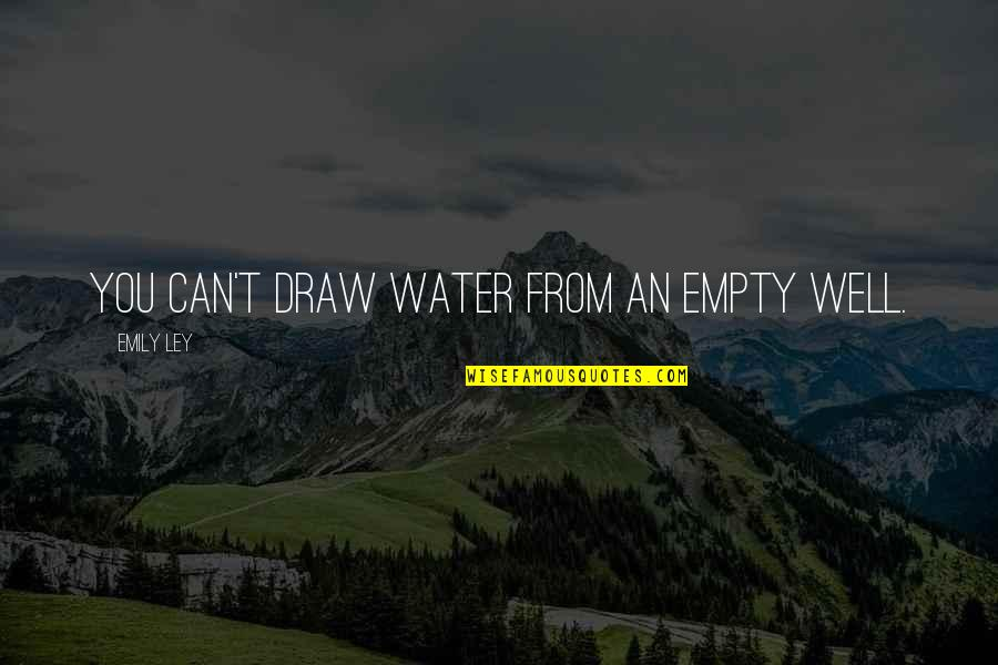 Bill Denbrough Quotes By Emily Ley: You can't draw water from an empty well.