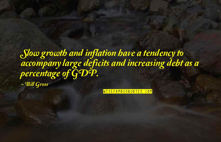 Bill Gross Quotes By Bill Gross: Slow growth and inflation have a tendency to